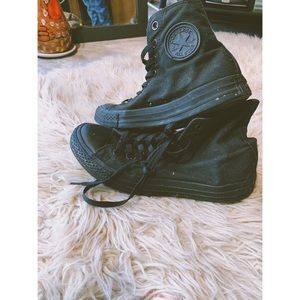 Converse high tops blacked out